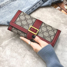 Jantens Leather ladies wallet high quality design long wallet women clutch bag wallet