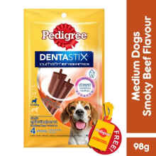 Pedigree Dentastix Medium Dogs 98Gr Rasa Beef- 4 Sticks [Isi 2 Pack]