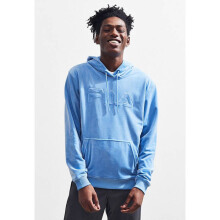 FILA Asher Velour Hoodie Sweatshirt Light Blue M