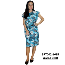 Batik Alhadi (BPT002-161) - Dress Midi - Motif Bunga - All Size