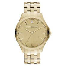 Armani Exchange AX2167 Men Gold Dial Gold Stainless Steel Strap [AX2167]