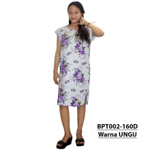 Batik Alhadi (BPT002-160) - Dress Midi - Motif Bunga -  All Size