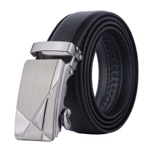 Dandali Original imported wild explosion automatic buckle men's belt Black