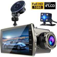 Vfocs Full HD 1080P 4 IPS Front+Rear Night Vision Dash Cam Dual Lens Car DVR Vehicle Camera Video Recorder Others