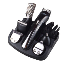 Kemei 6 in 1 Rechargeable Hair Trimmer Titanium Hair Clipper Electric Shaver Beard Trimmer Black