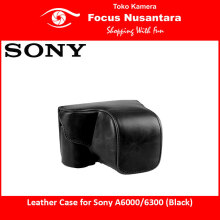 Leather Case for Sony A6000-6300 (Black)