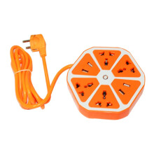 EELIC STK-4USB ORANGE Stop Kontak Segi Enam Hexagon Socket Hexagon Socket Usb