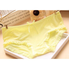 Candy Solid Color Breathable Underwear white
