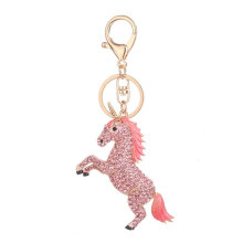Horse Shape Keychain Lady Bag Pendant Personality Key Chain Perfect Decoration pink