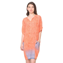 PARANG KENCANA GH 679 Dress Rayon Orange Abu 1/2 XS