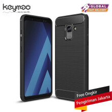Keymao Samsung Galaxy A8 2018 case Soft TPU Silicon Full Protect Cover Case Black