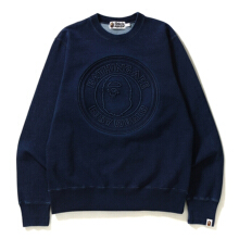 Bape College Crewneck Indigo Collection Navy Blue S