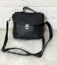 Beauty Gum Tas Selempang Sling Bag Adora Black Black