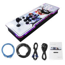COZIME Professional TV Arcade Game Console Kit with Double Joystick Buttons for PC Multicolor