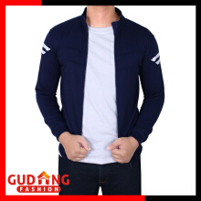 Gudang Fashion Jaket Training Pria Baby Terry Tebal - Navy / JAK 2263+A