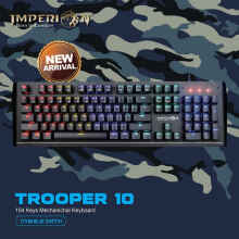 Keyboard Gaming Imperion Trooper 10 KG-M10F Mechanical, RGB - Hitam