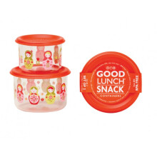 Sugar Booger Good Lunch Snack Containers Small Set of Two - Matryoshka Doll