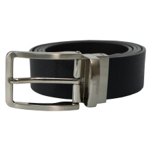 Condotti Leather Long Belt Reversible C-13412 Black/Coffee Black/Coffee
