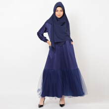 NAFEESA Nafeesa Nahda Dress Tutu Navy Allsize Navy Blue All Size