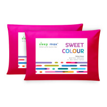 SLEEP MAX Sweet Colour Pillow set 2 Pcs Ungu - 45 x 65cm