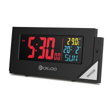 Digoo DG-C8 Wireless Full Color Digital Clear Backlight Electronical Desk Bedroom Alarm Clock