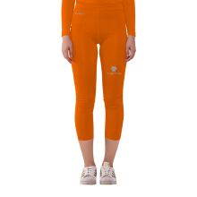 Tiento Baselayer Compression Celana Sebetis Ketat 3/4 Pants Legging Olahraga Orange