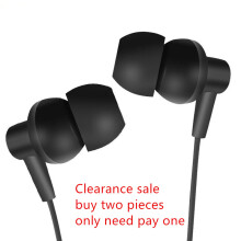 DELIVE 3.5mm Earbuds Super Bass Headsets with mic for iPhone Samsung xiaomi oppo vivo meizu Hitam