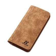 TOWER PRO Vintage Long Soft PU Leather Wallet Male Purse Large Capacity Card Holders Coffee