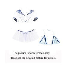 MEILIKOU Women's Sexy three-piece pajamas and swimsuit with tulle and cream to tempt students【954】