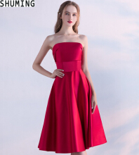 SHUMING- Dress Wedding dress Evening Dresses Red S
