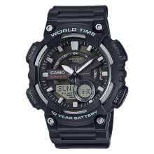 Casio AEQ-110W-1AVDF Water Resistant 100M Resin Band [AEQ-110W-1AVDF] - Black