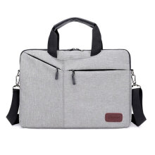 [COZIME] Men Briefcase Business Male Single Shoulder Bag Soft Polyester Messenger Bags Gray1
