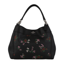 COACH F25858 Lexy Small Crossgrain Stitched Lthr Black Multi [COA01865B] Black