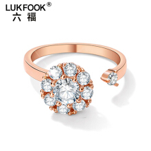 lukfook cincin rose gold size jari 12-13