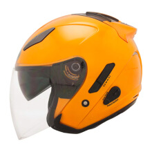 KYT Galaxy Slide - Helm Half Face - Solid Orange