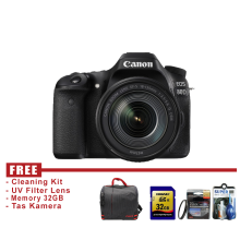 Canon Eos 80D Kit 18-135mm IS USM Hitam