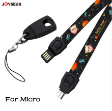 JOYSEUS Cute Phone Lanyard Hand Wrist Strap String USB Charging Cable 5 pin 8pin Charger For Android Micro USB Type C