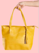 Tote Bag Alice Zipper Mustard Beauty Gum