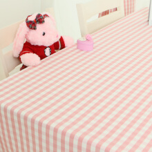 Jinhua Chinese New Year powder small plaid tablecloth waterproof garden table cloth Continental simple rectangular coffee table cloth style spring pink lace section tablecloth 130 * 180cm