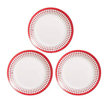 ARCOPAL Adonie Red Dinner Plate 25cm Set of 3