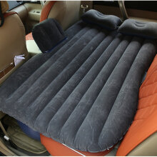 Car Back Seat Car Air Mattress Travel Bed Moisture-proof Inflatable Air Bed beige