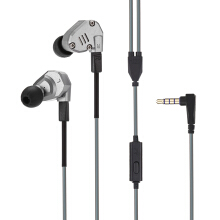 KZ ZS6 Quad Driver Headphones High Fidelity Extra Bass Earbuds with Detachable CableGray