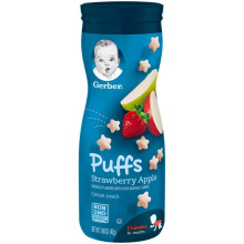 Gerber Graduates Puff Strawberry Apple (Snack Bayi) - 42 gram