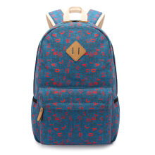 Keness Student bag new Korean version of the college wind letter backpack canvas foreign trade backpack