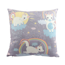 Jantens 45cm * 45cm cute unicorn cushion cover candy color super high velvet pillowcase
