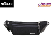 Newlan Waterproof Functional Waist Bag Packs For Music Zip Bag Black