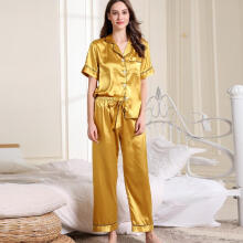 2019 newWomens   Short Sleeve Long Pants Sleepwear Short  Nightwear  Sets_S