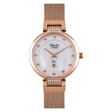 Alexandre Christie AC 2752 LD BRGSL Ladies White Mother of Pearl Dial Rose Gold Stainless Steel  [ACF-2752-LDBRGSL]