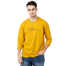 FACTORY OUTLET UG1802-0009 Mens T-Shirt With Print - Yellow