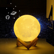 Keymao 3D Print Moon lamp LED Rechargeable Novelty Touch Sensor Desk lamp Night light Decor